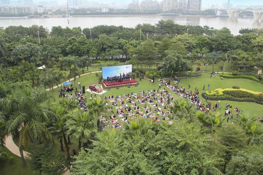 广州香格里拉大酒店举办维也纳童声合唱团户外音乐会