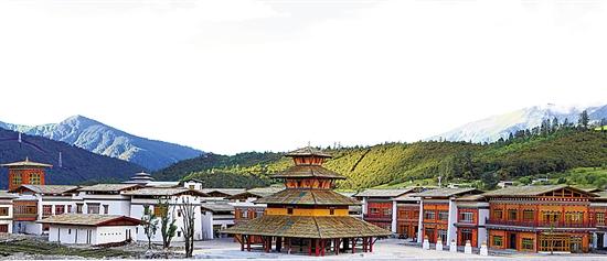 林芝鲁朗国际旅游小镇 国庆正式营业图片