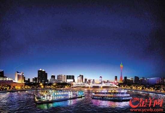 珠江两岸的夜景 (广州市旅游局供图).jpg