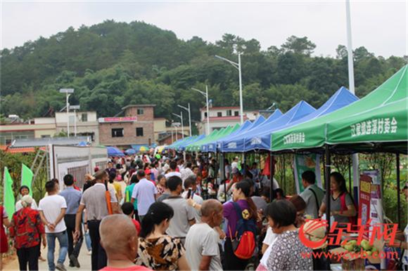 ▲丰富地道的农产品吸引了不少游客市民前来观光品尝.png